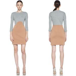 Carven Sweatshirt Color Block Long Sleeve Mini Dre